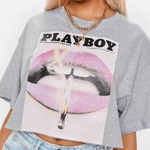 PLAYBOY X CROPPED T-SHIRT